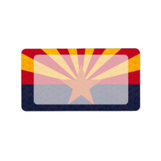 Vintage Pattern Arizonan Flag Address Label