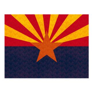 Vintage Pattern Arizonan Flag Postcards