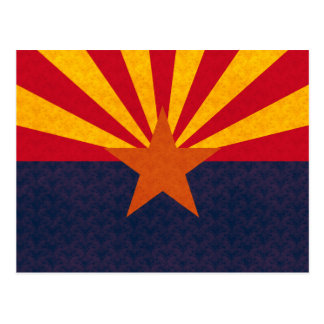 Vintage Pattern Arizonan Flag Post Cards