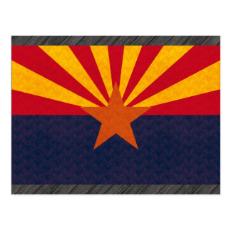 Vintage Pattern Arizonan Flag Postcard