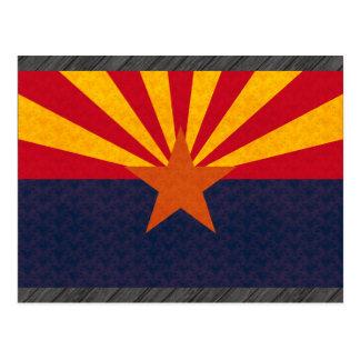 Vintage Pattern Arizonan Flag Postcard