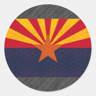 Vintage Pattern Arizonan Flag Classic Round Sticker