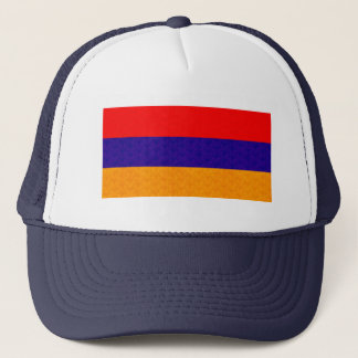 Vintage Pattern Armenian Flag Trucker Hat