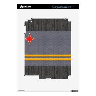 Vintage Pattern Aruban Flag iPad 3 Decals