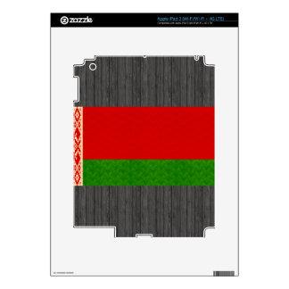 Vintage Pattern Belarusian Flag Skin For iPad 3