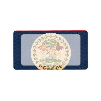 Vintage Pattern Belizean Flag Label