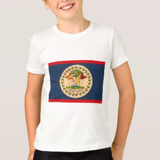 Vintage Pattern Belizean Flag T-Shirt
