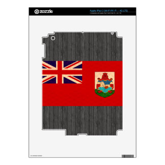 Vintage Pattern Bermudan Flag iPad 3 Decals
