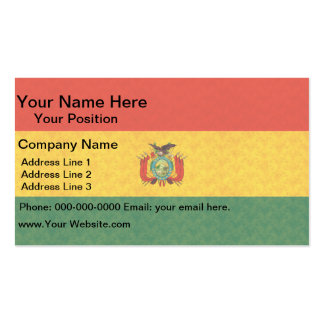 Vintage Pattern Bolivian Flag Business Card Templates