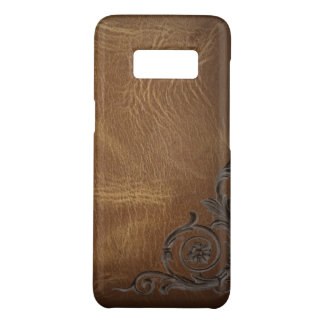 vintage pattern brown Western Leather Case-Mate Samsung Galaxy S8 Case