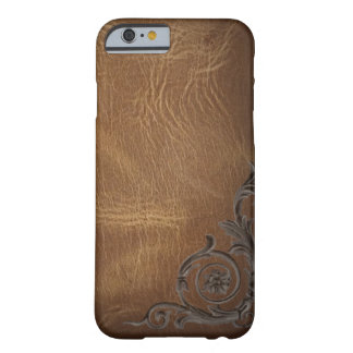 vintage pattern brown Western Leather iPhone 6 cas Barely There iPhone 6 Case
