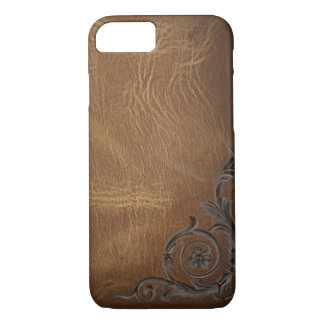 vintage pattern brown Western Leather iPhone 7 cas iPhone 7 Case