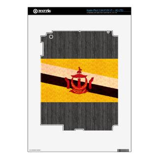 Vintage Pattern Brunean Flag Skin For iPad 3