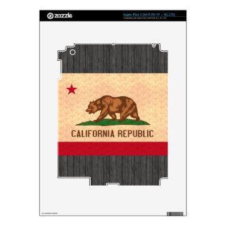 Vintage Pattern Californian Flag iPad 3 Skins