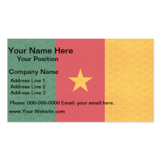 Vintage Pattern Cameroonian Flag Double-Sided Standard Business Cards (Pack Of 100)