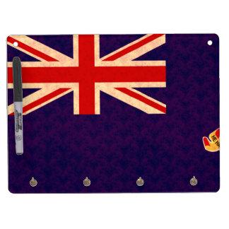 Vintage Pattern Caymanian Flag Dry Erase Boards