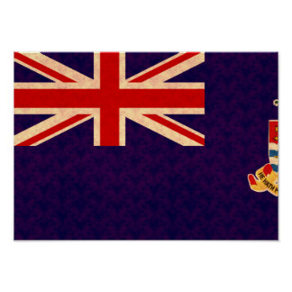 Vintage Pattern Caymanian Flag Posters