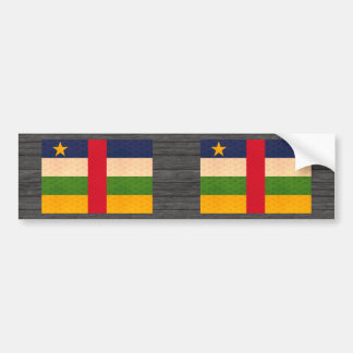 Vintage Pattern Central African Flag Bumper Sticker