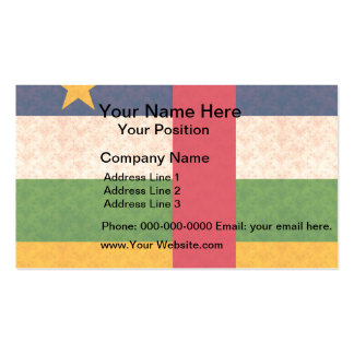 Vintage Pattern Central African Flag Business Card