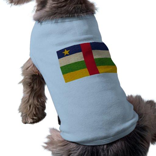 Vintage Pattern Central African Flag Pet T-shirt