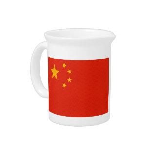 Vintage Pattern Chinese Flag Beverage Pitchers