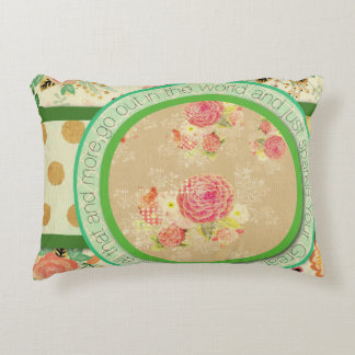 vintage pattern collage,typography,inspirational,s accent pillow