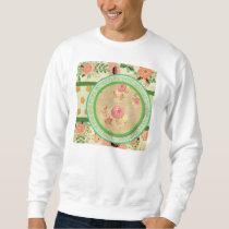 vintage pattern collage,typography,inspirational,s sweatshirt