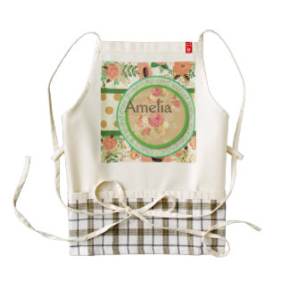 vintage pattern collage,typography,inspirational,s zazzle HEART apron