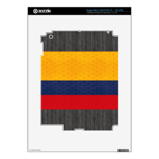 Vintage Pattern Colombian Flag Decals For iPad 3