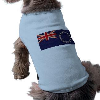 Vintage Pattern Cook Island Flag Pet Tshirt