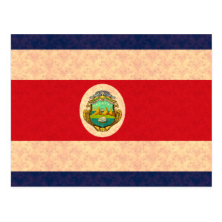 Vintage Pattern Costa Rican Flag Postcards