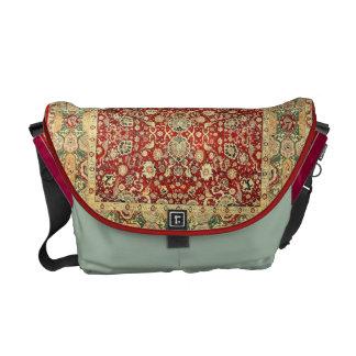 Vintage pattern courier bag