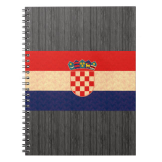 Vintage Pattern Croatian Flag Notebook