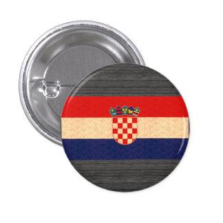 Vintage Pattern Croatian Flag Pinback Button