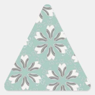 Vintage Pattern - Customize Triangle Sticker