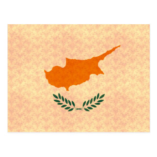 Vintage Pattern Cypriot Flag Postcard