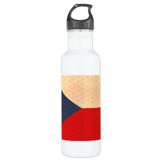 Vintage Pattern Czech Flag Stainless Steel Water Bottle