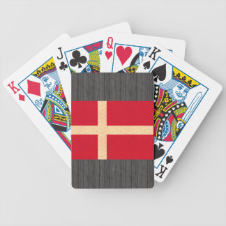 Vintage Pattern Danish Flag Bicycle Playing Cards