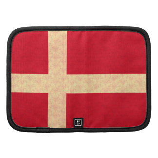 Vintage Pattern Danish Flag Folio Planner