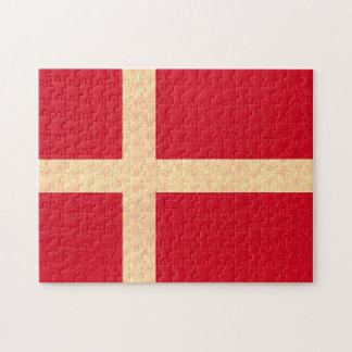 Vintage Pattern Danish Flag Puzzle