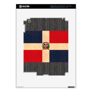Vintage Pattern Dominican Flag iPad 3 Skins