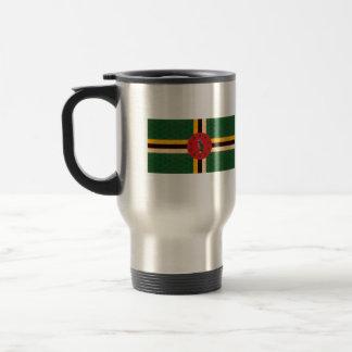 Vintage Pattern Dominican Flag Travel Mug