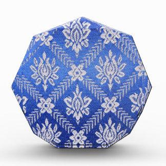Vintage Pattern Fabric Blue Award