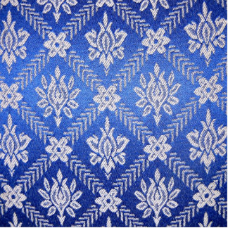 Vintage Pattern Fabric Blue Cutout