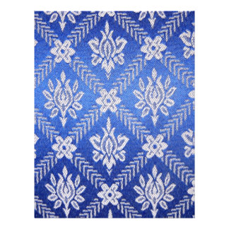 Vintage Pattern Fabric Blue Flyer