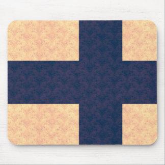Vintage Pattern Finnish Flag Mouse Pad