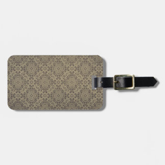 Vintage pattern floral diamonds Foggy Night Tag For Luggage