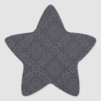 Vintage pattern floral diamonds Moonlight Star Sticker