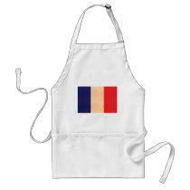 Vintage Pattern French Flag Adult Apron