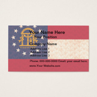 Vintage Pattern Georgian Flag Business Card